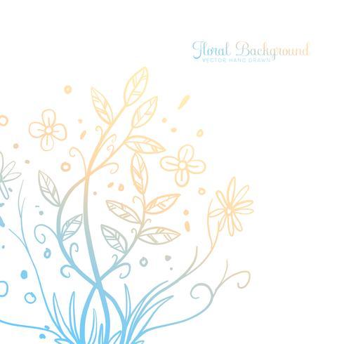 Fundo floral decorativo de mão desenhada vetor