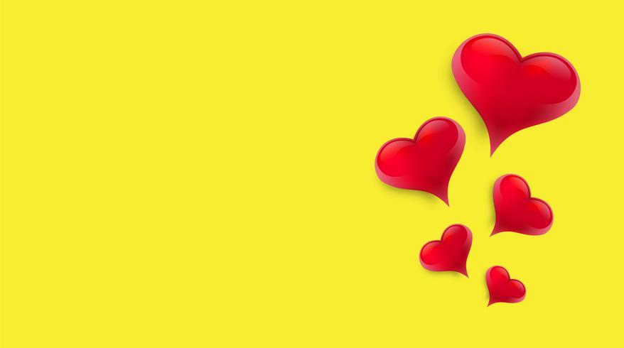 Fundo em branco decorado com corações. Ilustração vetorial vetor