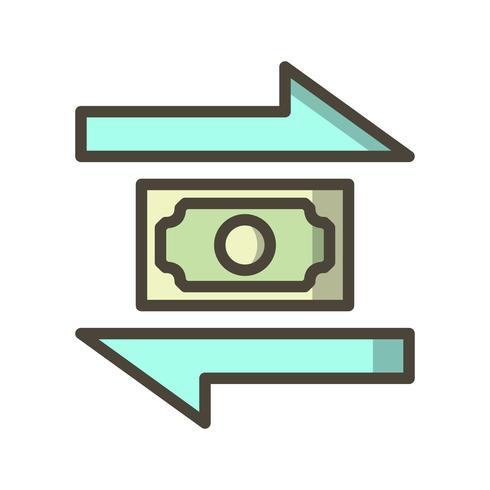 Ícone de vetor de transação