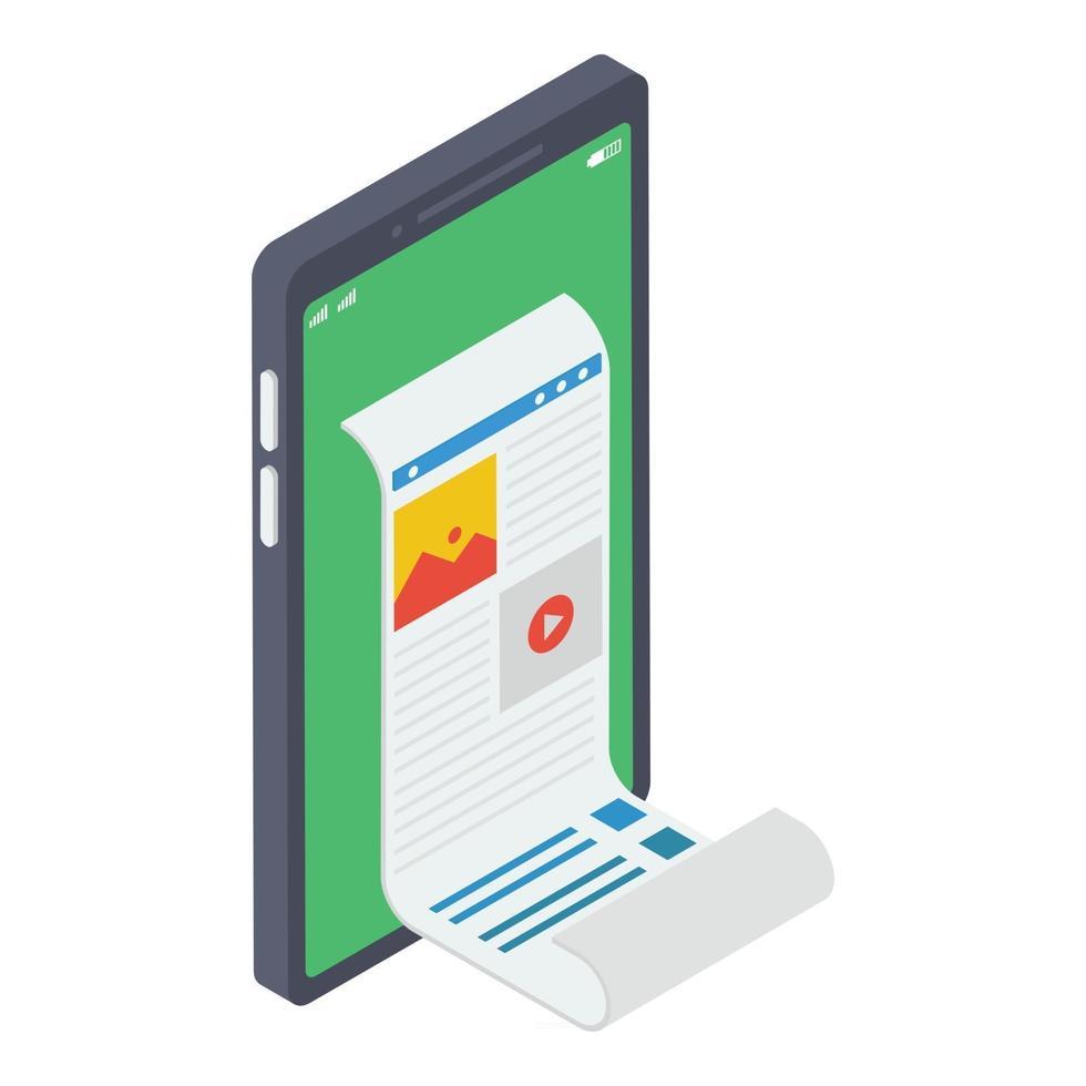 papel de fatura online vetor