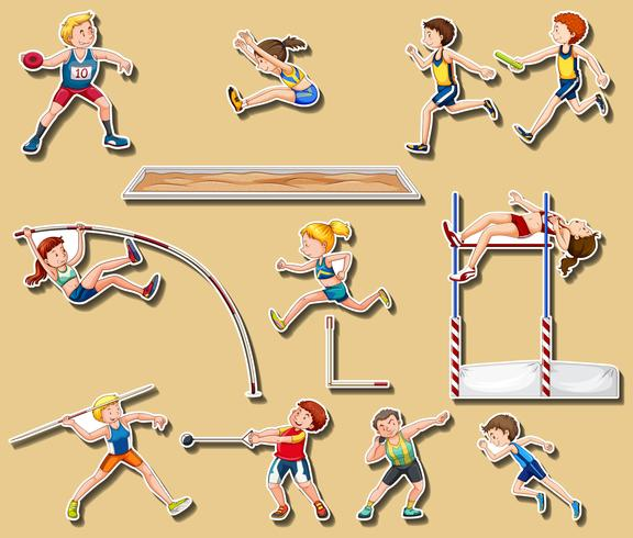 Design de adesivos para esportes de atletismo 293560 - Download Vetores  Gratis, Desenhos de Vetor, Modelos e Clipart