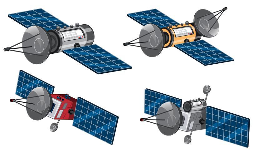 Conjunto de satélite espacial vetor