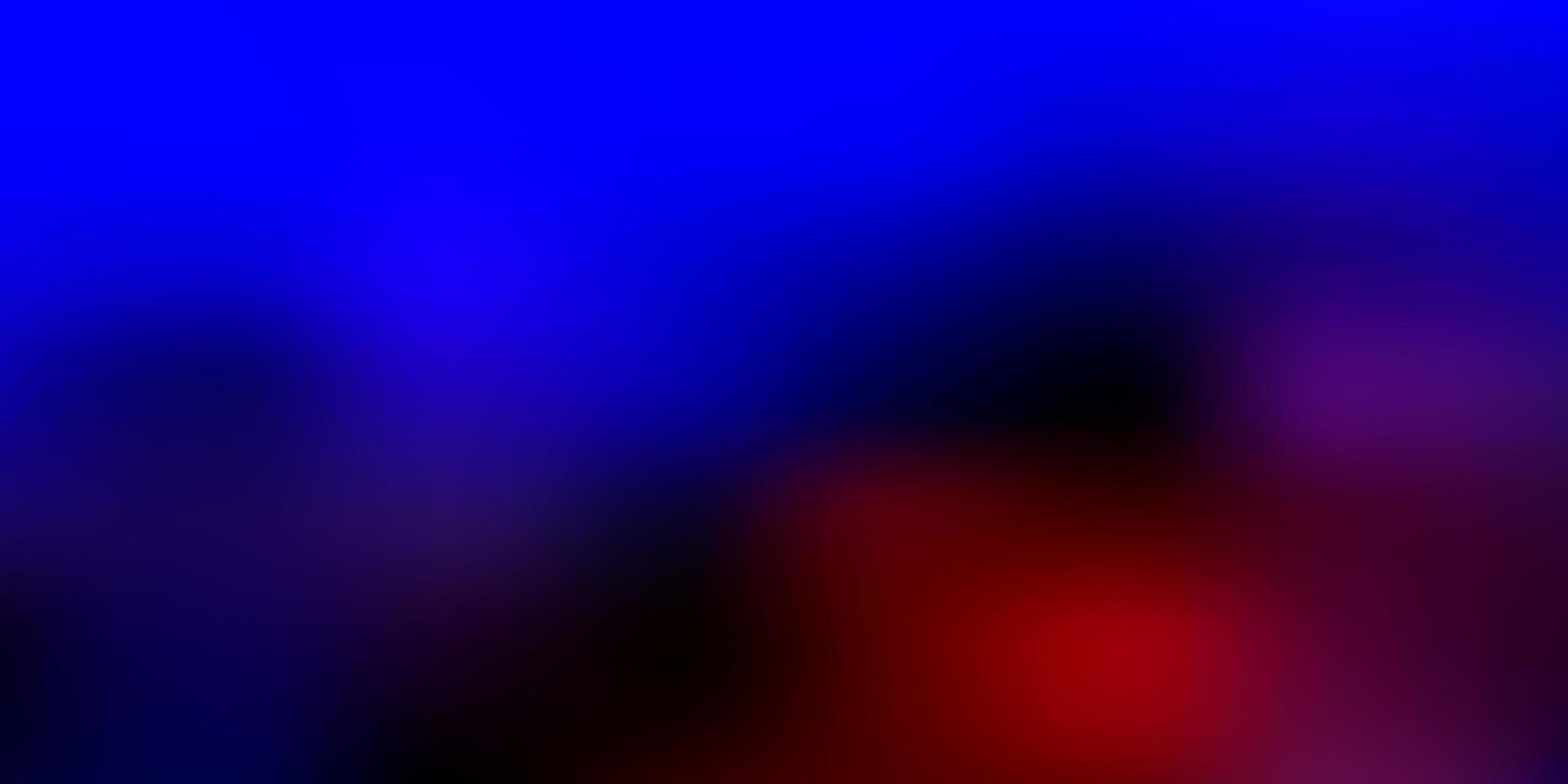 layout de desfoque de vetor azul claro e vermelho.