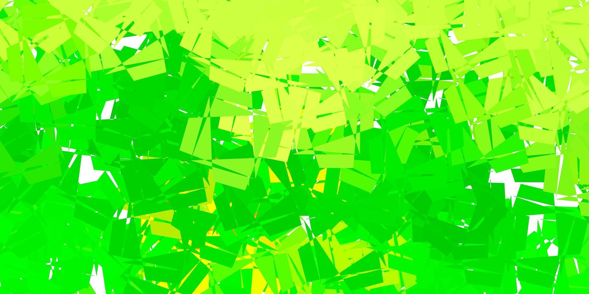 modelo de triângulo poli vetor verde escuro e amarelo.
