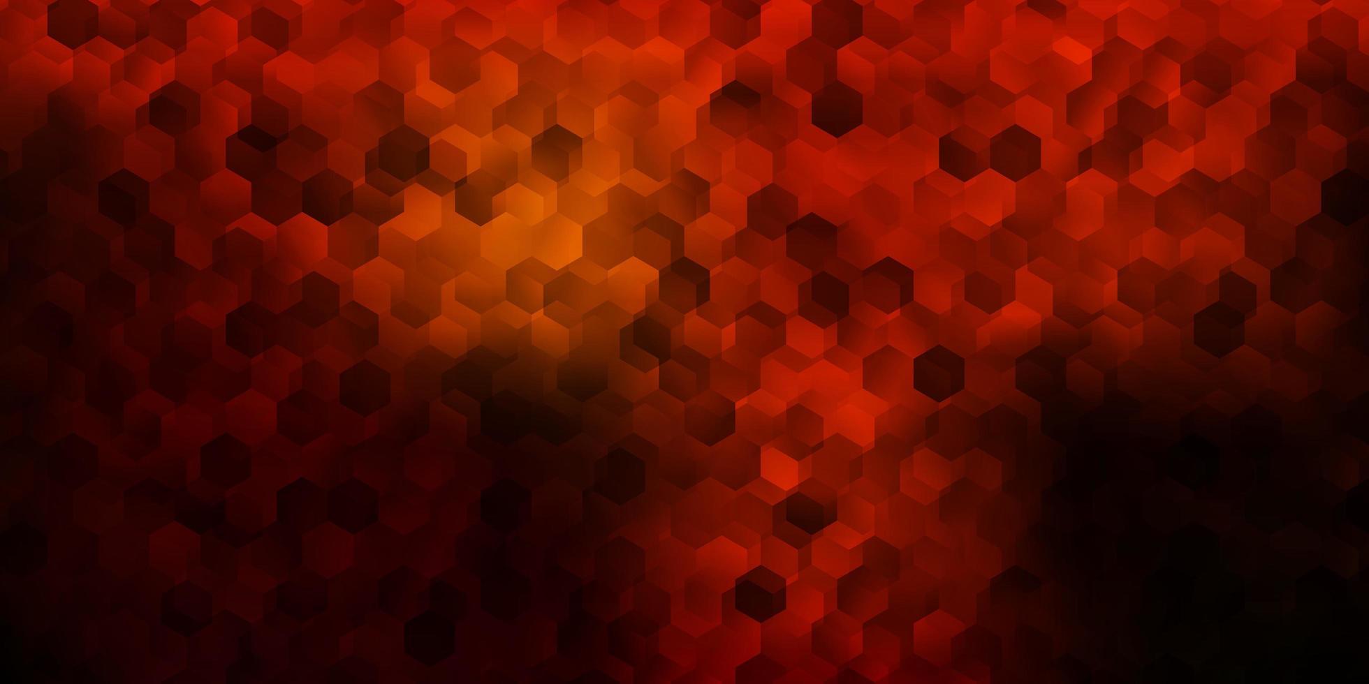 capa de vetor rosa escuro com hexágonos simples.