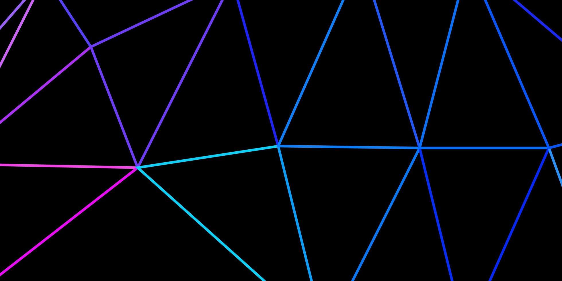 fundo do mosaico do triângulo do vetor multicolorido claro.