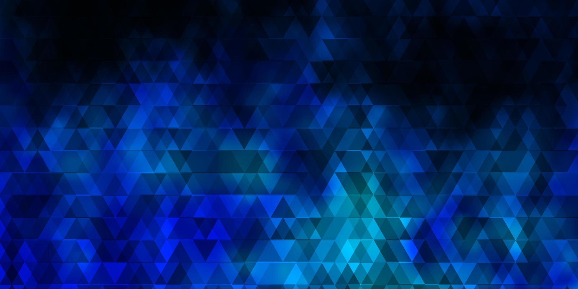 padrão de vetor azul claro com linhas, triângulos.