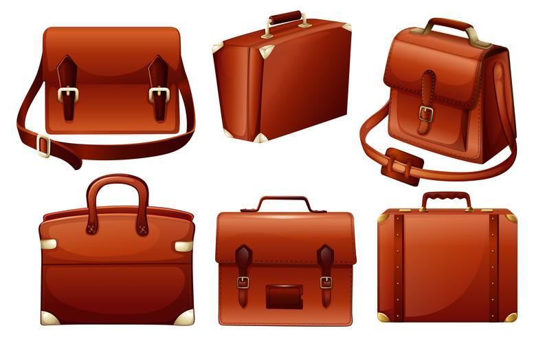 Projetos diferentes de sacos vetor