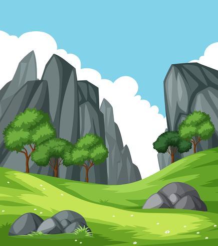 Paisagem de montanha de rocha natureza vetor