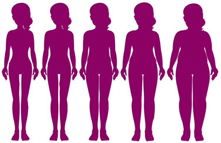 Conjunto de figuras de peso diferente vetor
