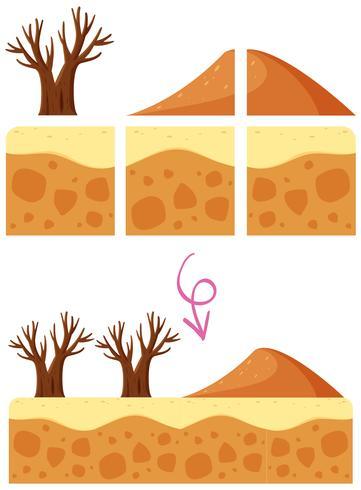 A Desert Dune Game Element vetor