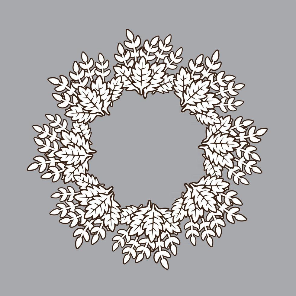 moldura floral decorativa vetor