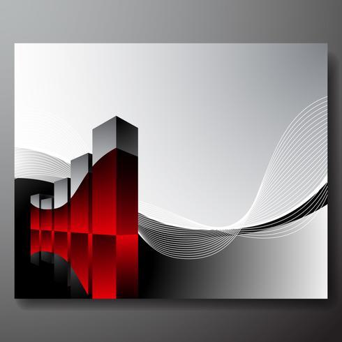 gráfico de vetor infográfico 3d