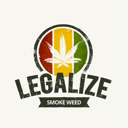 Emblema da Cannabis vetor