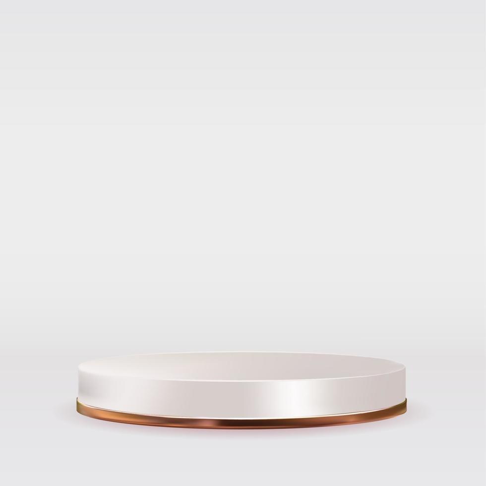 pódio branco com confete dourado. ilustração vetorial vetor