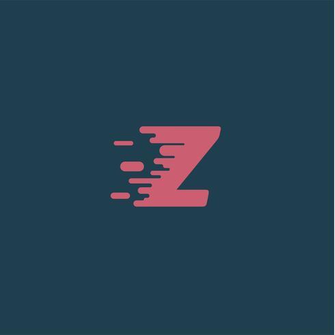 'Rush' personagem de um typeset, ilustração vetorial vetor