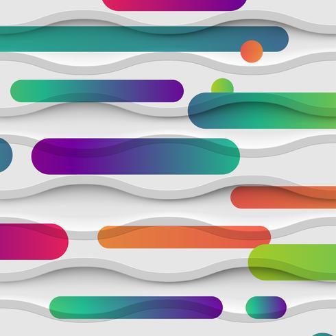 Abstrato colorido com bolas e linhas para publicidade, ilustração vetorial vetor