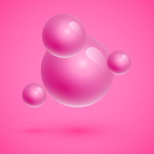 Esferas coloridas flutuando, ilustração vetorial realista vetor
