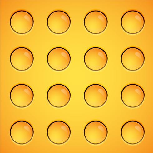 Bolhas amarelas fundo, vetor