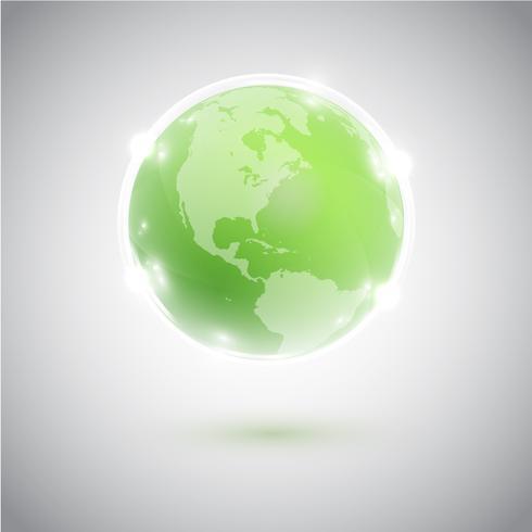 Globo verde, ilustração vetorial vetor