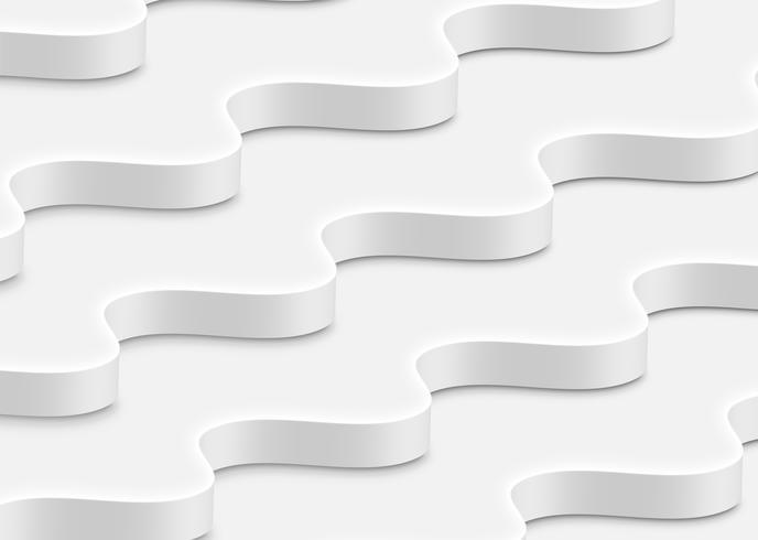 Ondas brancas abstratas altamente detalhadas, ilustração vetorial vetor