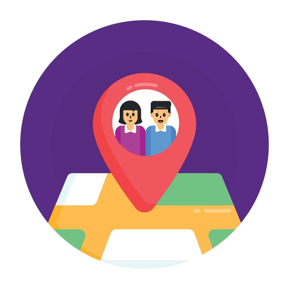 PIN de localização dos usuários vetor