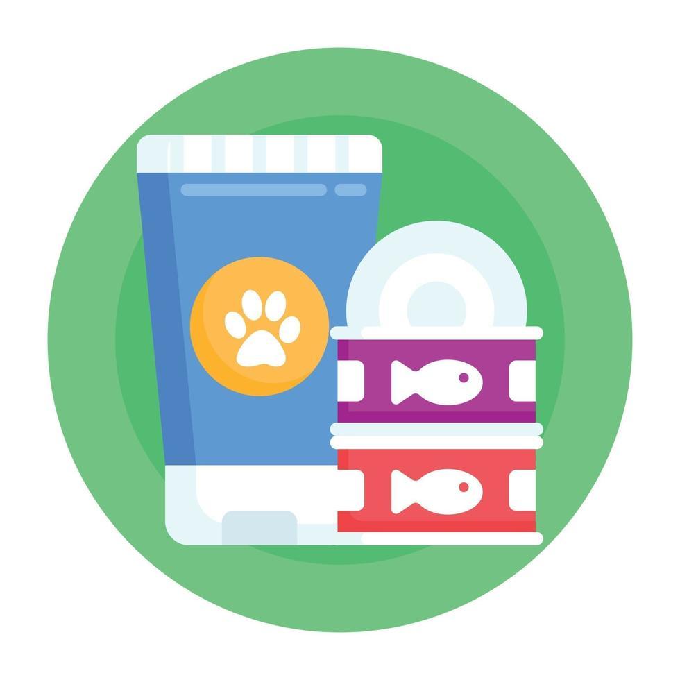 produtos e suprimentos para animais de estimação vetor