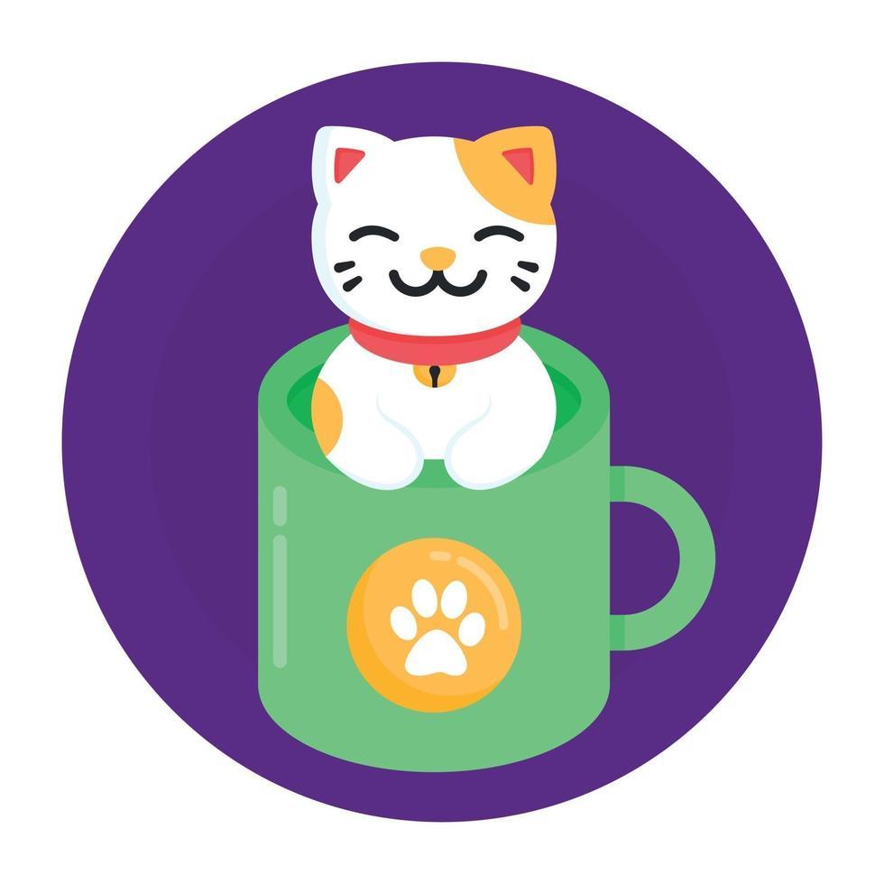 caneca de gato de estimação vetor