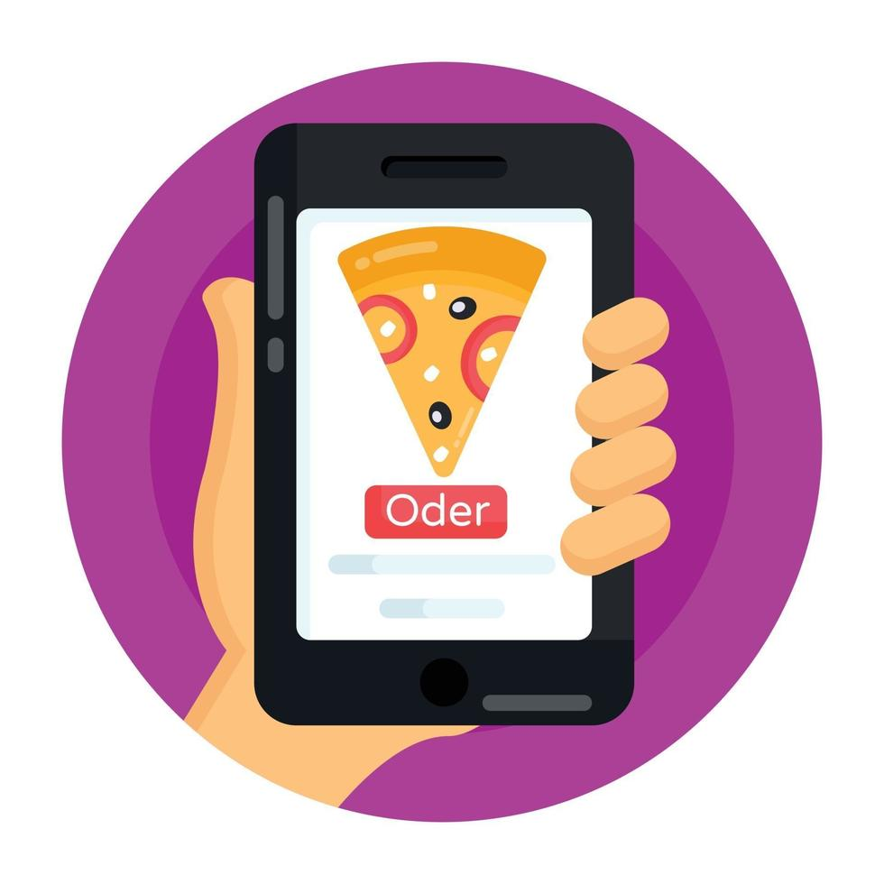 pedido de pizza online vetor