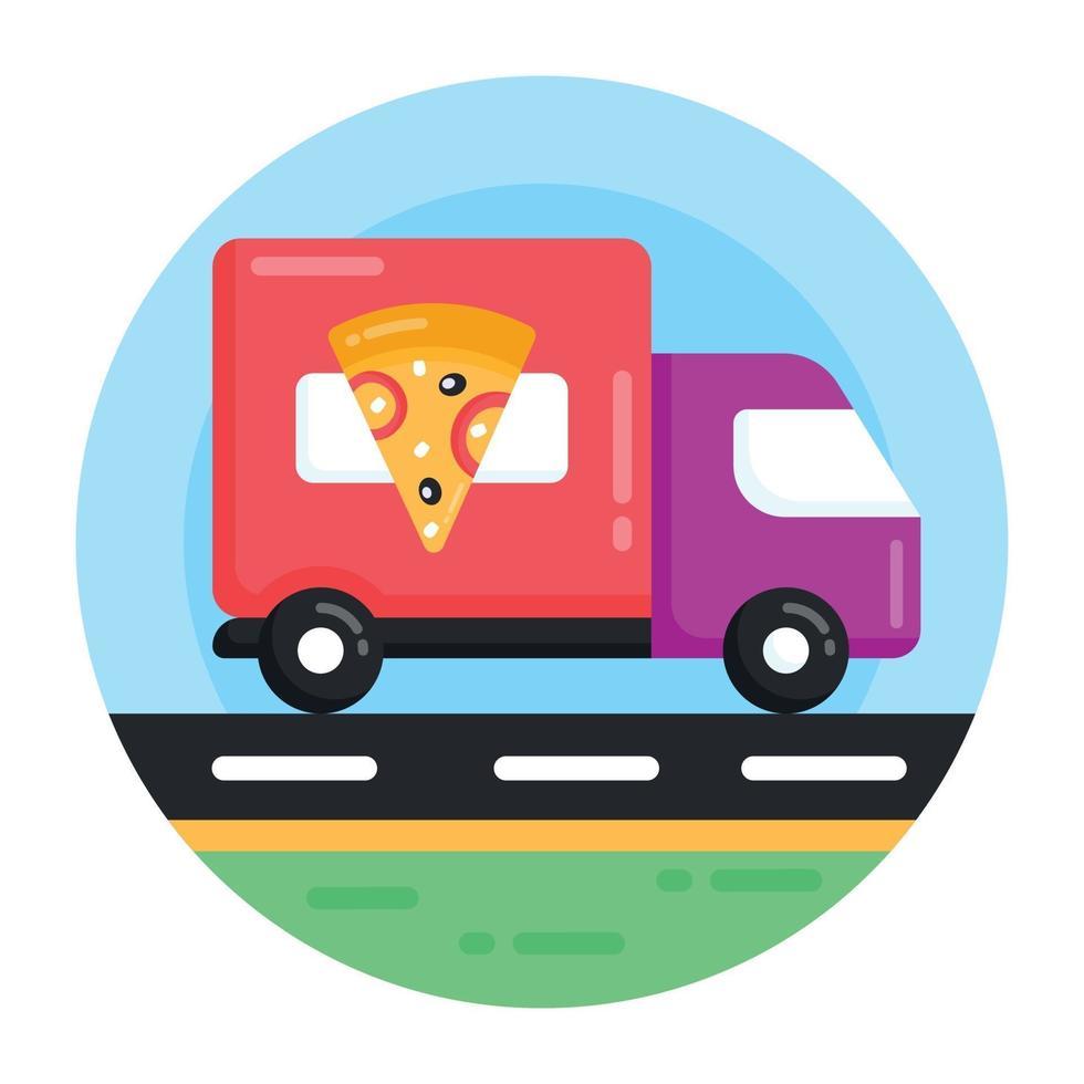 entrega e pedido de pizza vetor