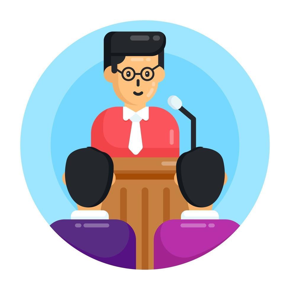 discurso e seminário vetor