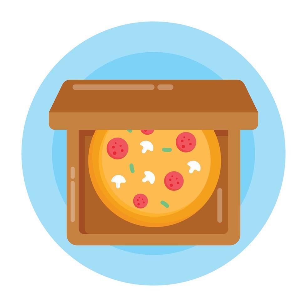 pizza junk food vetor