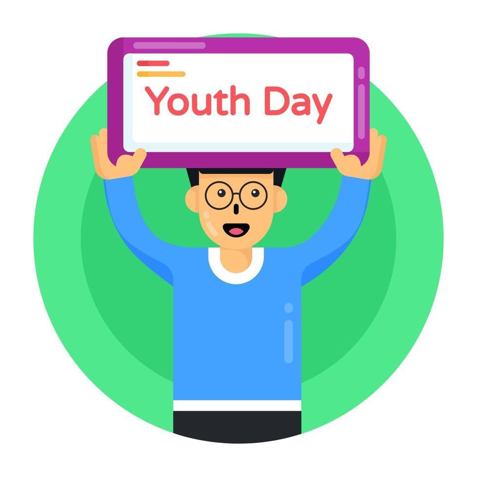 banner do dia da juventude vetor