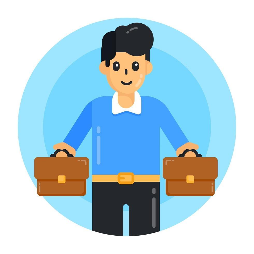jovem empresário e empregador vetor