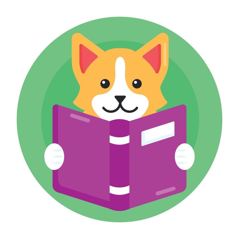 livro de leitura de cachorro vetor