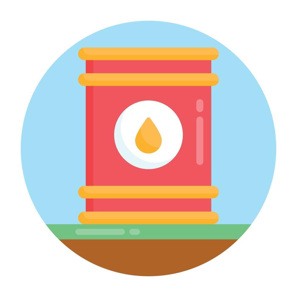 barril e recipiente de óleo vetor
