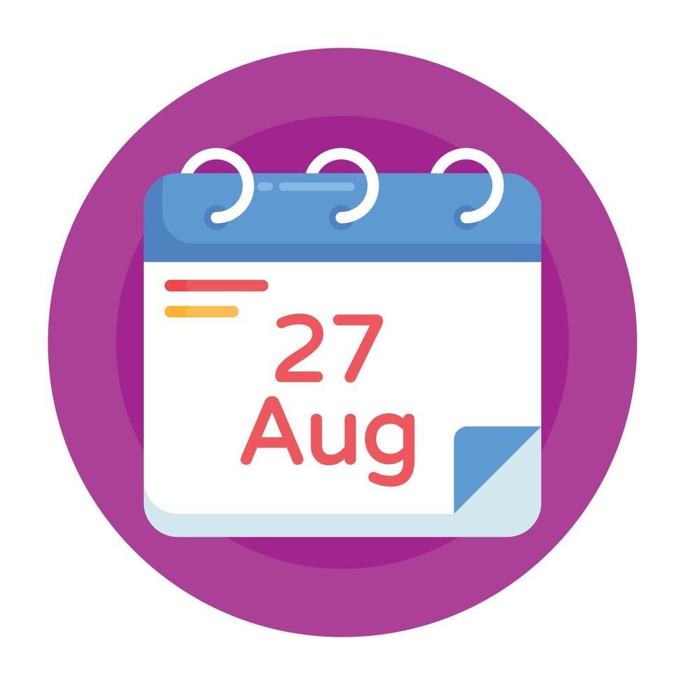 calendário do dia do petróleo vetor