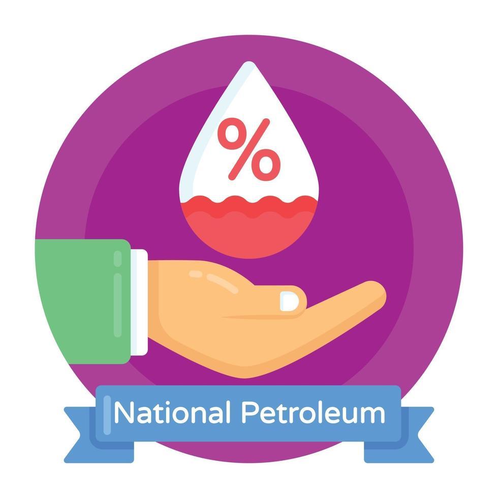 dia nacional do petróleo vetor