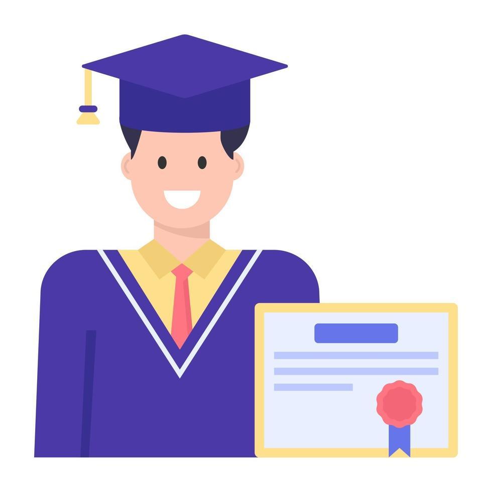 melhor distintivo de estudante vetor