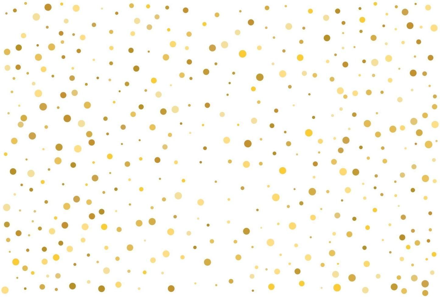 ouro glitter clássico círculo confete fundo vetor