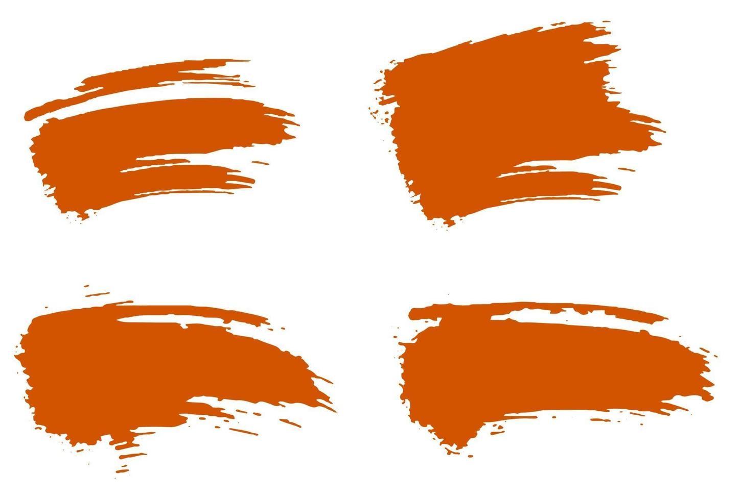 conjunto de sublimação grunge pincel laranja grunge vetor