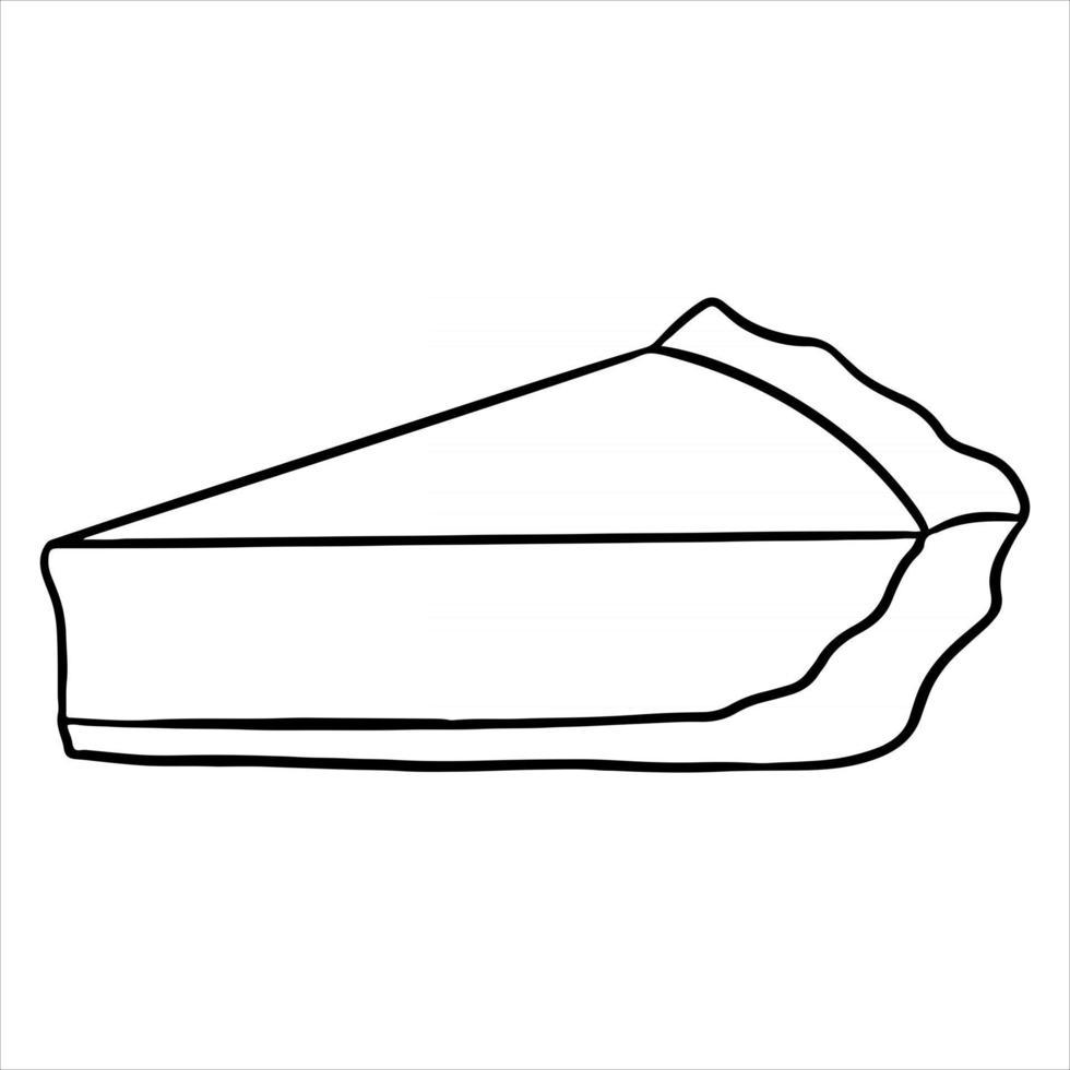 produtos de confeitaria. um apetitoso pedaço fatiado de torta de abóbora. vetor