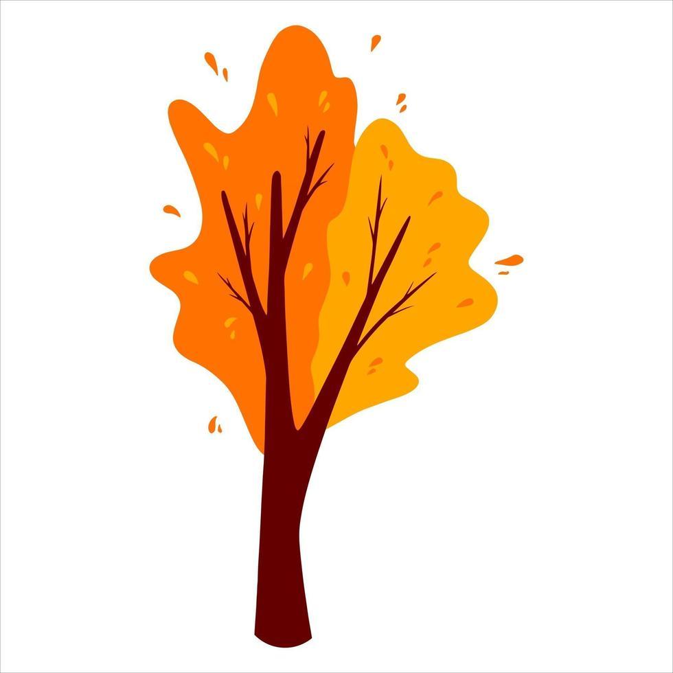 árvore abstrata do outono. planta ornamental. estilo de desenho animado. vetor