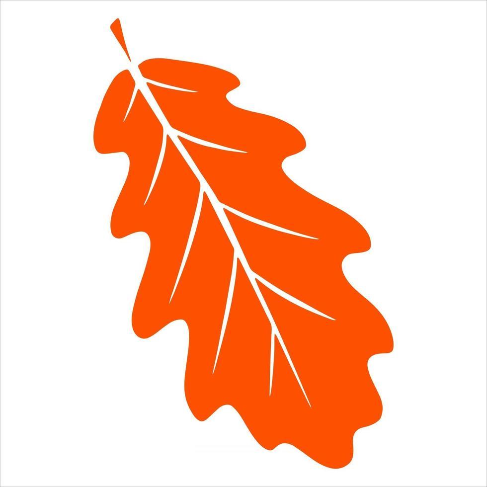 folha de outono esculpida. natureza folhas brilhantes das árvores. abstração. vetor