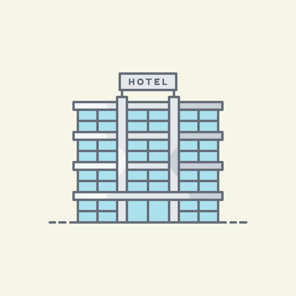 ilustração vetorial de construção de hotel vetor