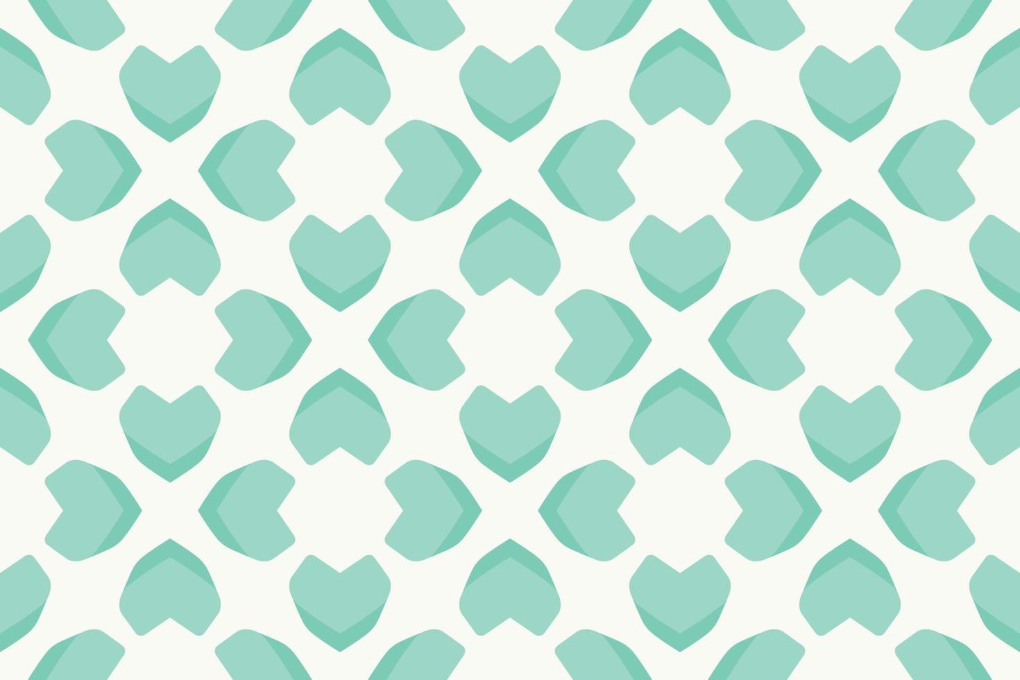 ilustração em vetor gradiente abstrato padrão coração verde brilhante