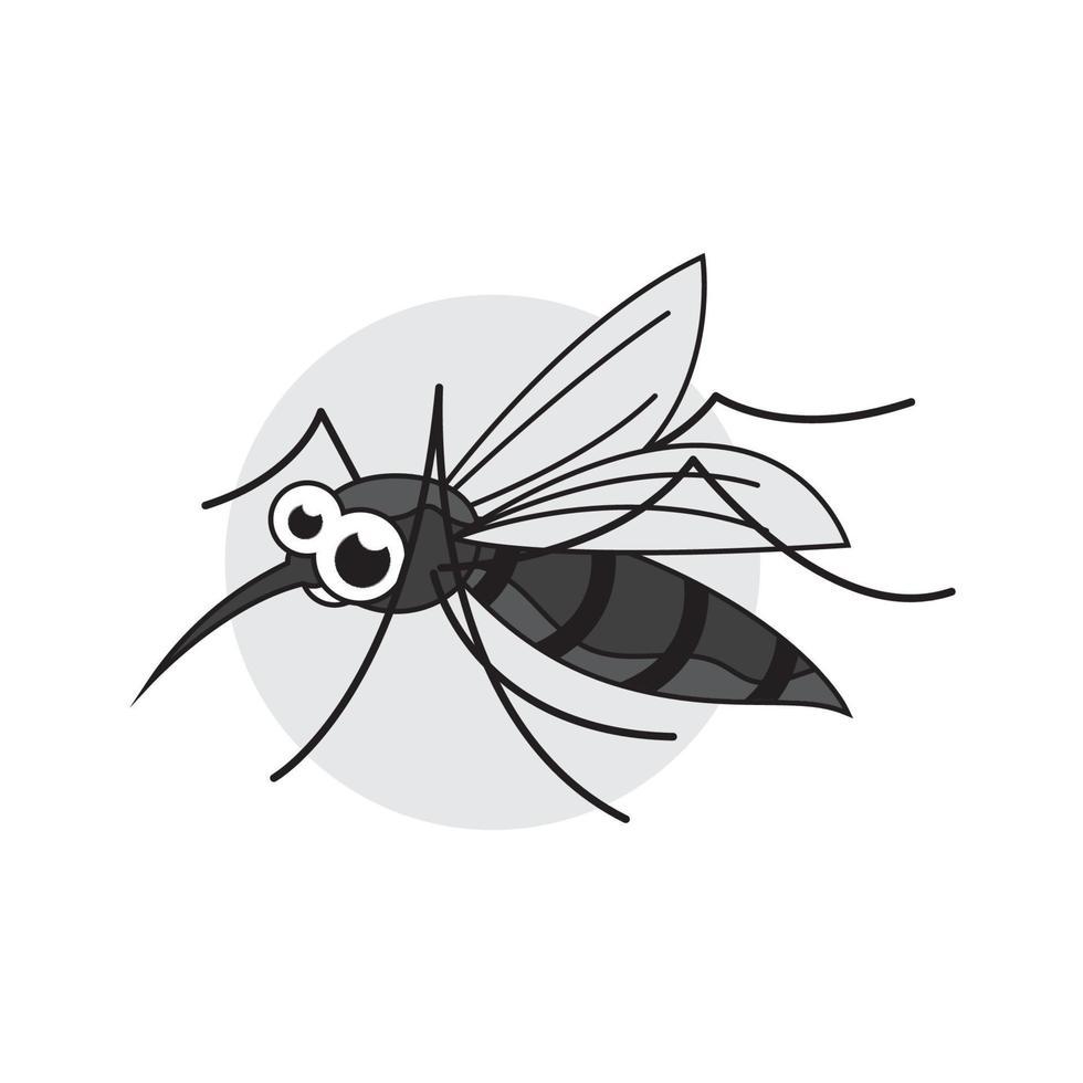 vetor de modelo de ícone de inseto mosquito