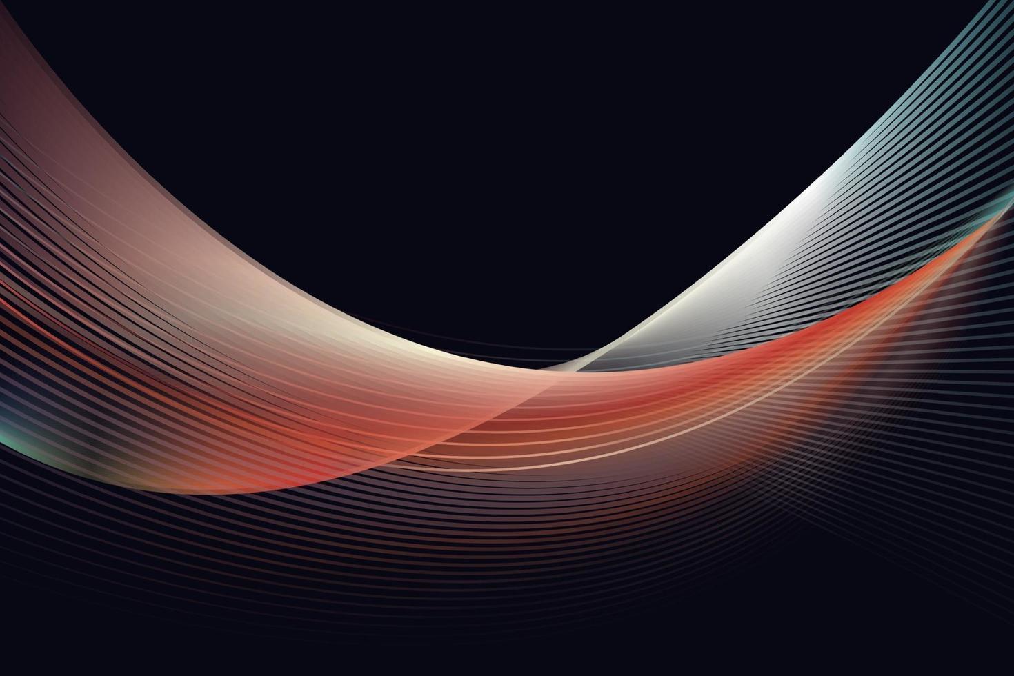 fundo da linha abstrata da onda, ondas mordern. vetor
