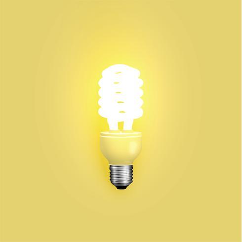 Lâmpada de poupança de energia, ilustração vetorial vetor