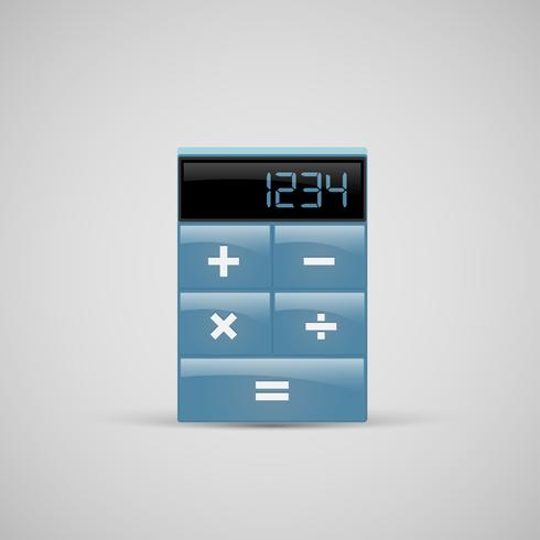 Um, realístico, calculadora, ícone, vetorial vetor